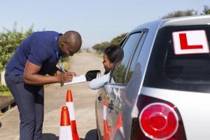 learner driver taking test